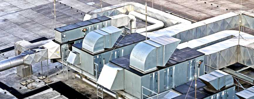 Photo of a roof ventilation system.