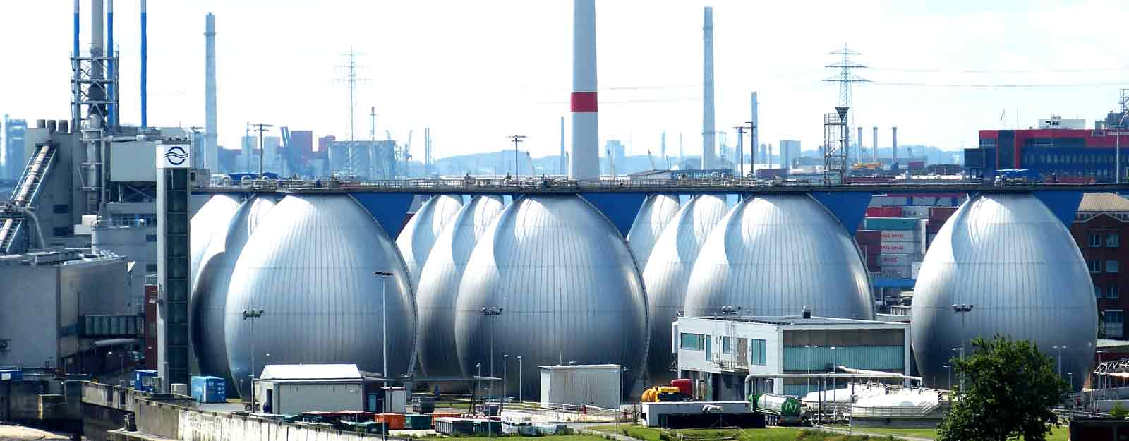 Photo of a wastewater treatment plant.